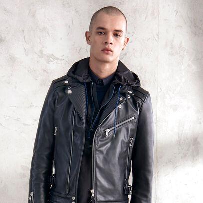 Diesel Black Gold leather