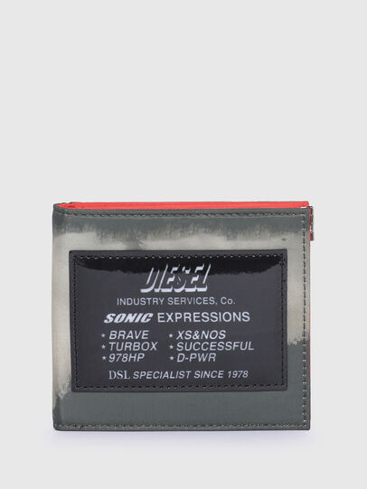 Diesel - HIRESH S SP, Grey/Orange - Small Wallets - Image 1