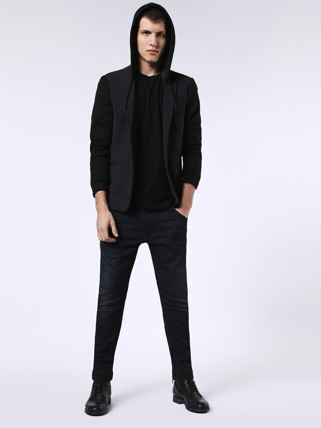 DVL-BLAZER-HOOD-RE, Black