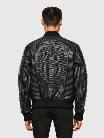 Diesel - L-FUTURE, Black - Leather jackets - Image 2