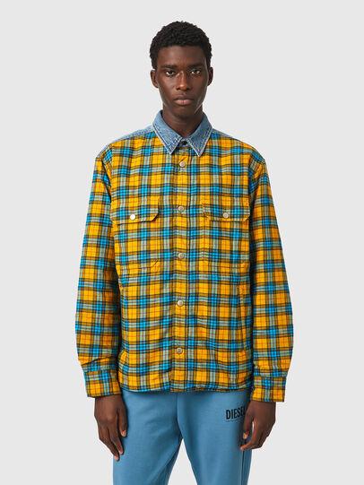 Diesel - S-BUN, Blue/Yellow - Shirts - Image 1