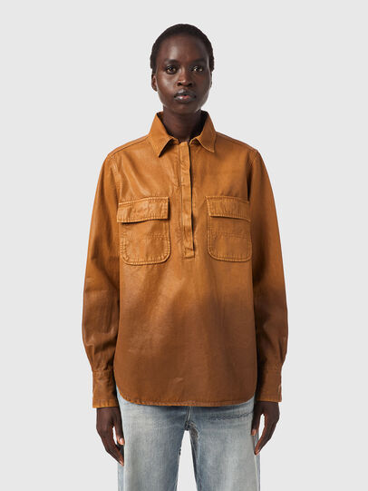 Diesel - DE-EVE-SP, Brown - Denim Shirts - Image 1