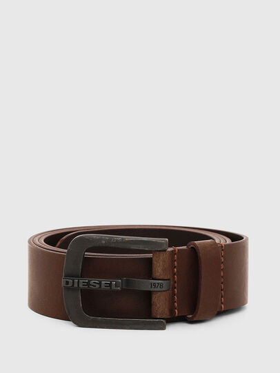 Diesel - B-DART, Brown Leather - Belts - Image 1