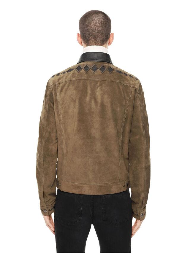 Diesel - LYRICH, Green/Black - Leather jackets - Image 2