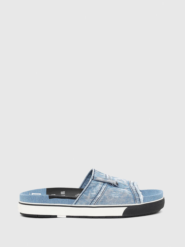 Diesel - SA-GRAND OT, Blue Jeans - Slippers - Image 1