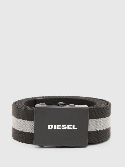 Diesel - B-PLATA, Black/Grey - Belts - Image 1