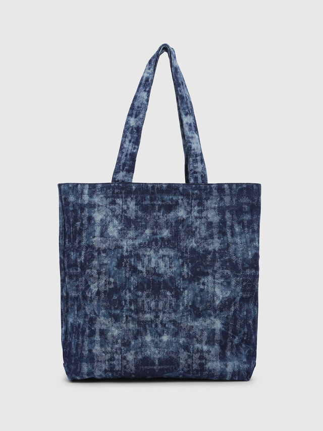 Diesel - F-THISBAG SHOPPER NS, Blue Jeans - Shopping and Shoulder Bags - Image 2