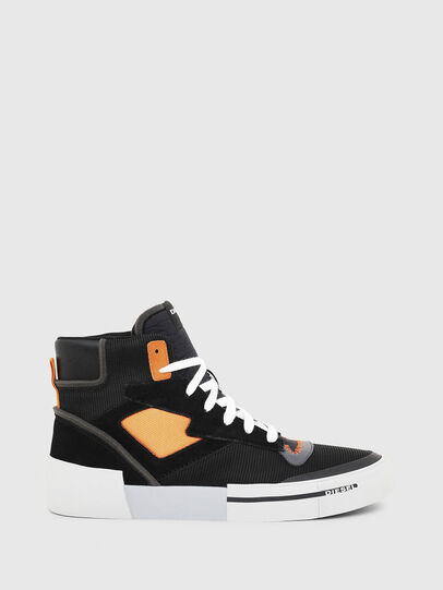 Diesel - S-DESE MS, Black/Orange - Sneakers - Image 1