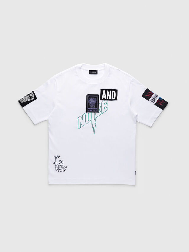 Diesel - TJUSTWG OVER, White - T-shirts and Tops - Image 1