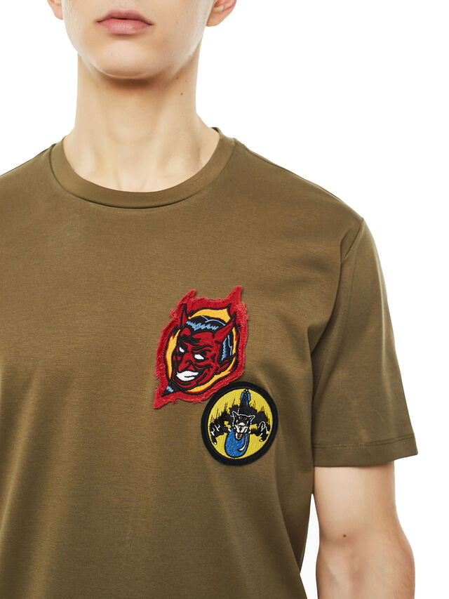 Diesel - TY-PATCHES, Military Green - T-Shirts - Image 3