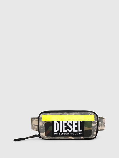 Diesel - BELT RUBBER CASE BIG, Green Camouflage - Continental Wallets - Image 1