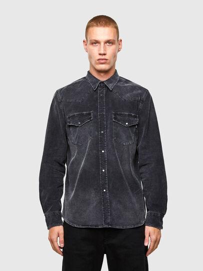 Diesel - S-EAST-LONG-VE, Black - Shirts - Image 1
