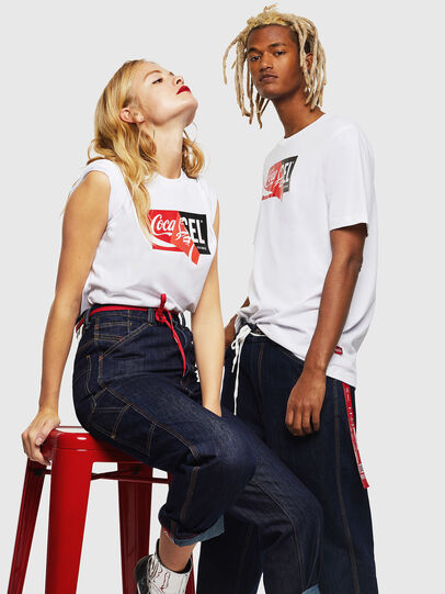 Diesel - CC-T-JUST-COLA, White - T-Shirts - Image 6