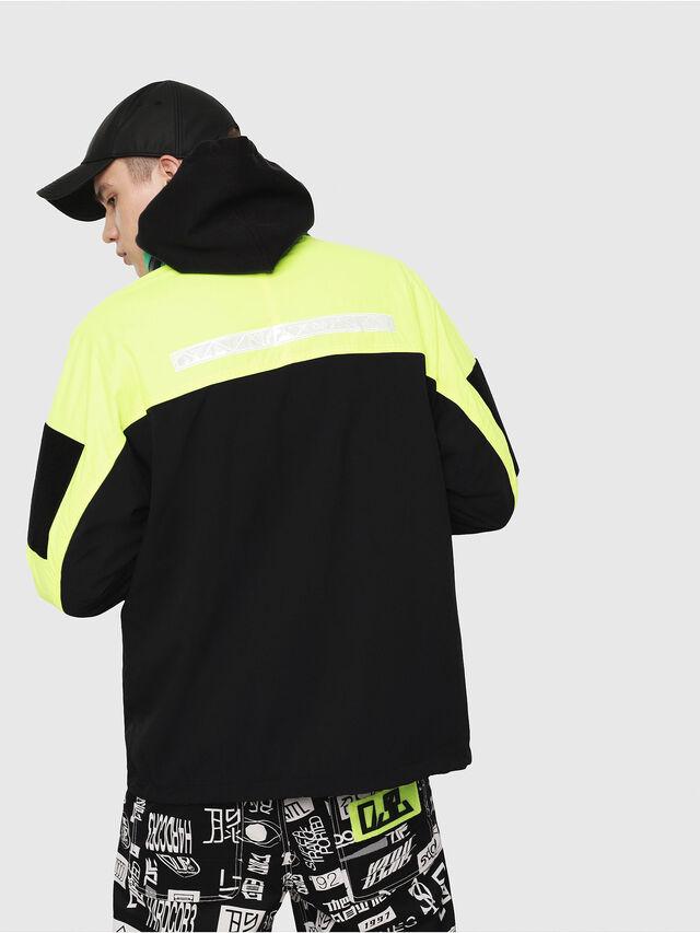 Diesel - J-FUTOSHI, Black/Yellow - Jackets - Image 2