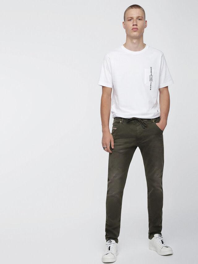 Diesel - Krooley JoggJeans 0670M, Military Green - Jeans - Image 4