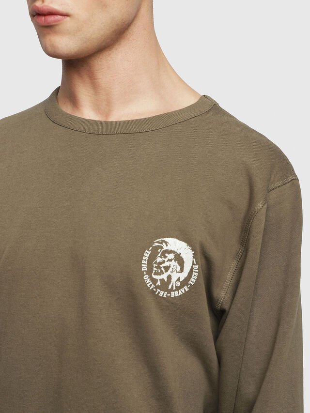 Diesel UMLT-WILLY, Military Green - Sweaters - Image 3