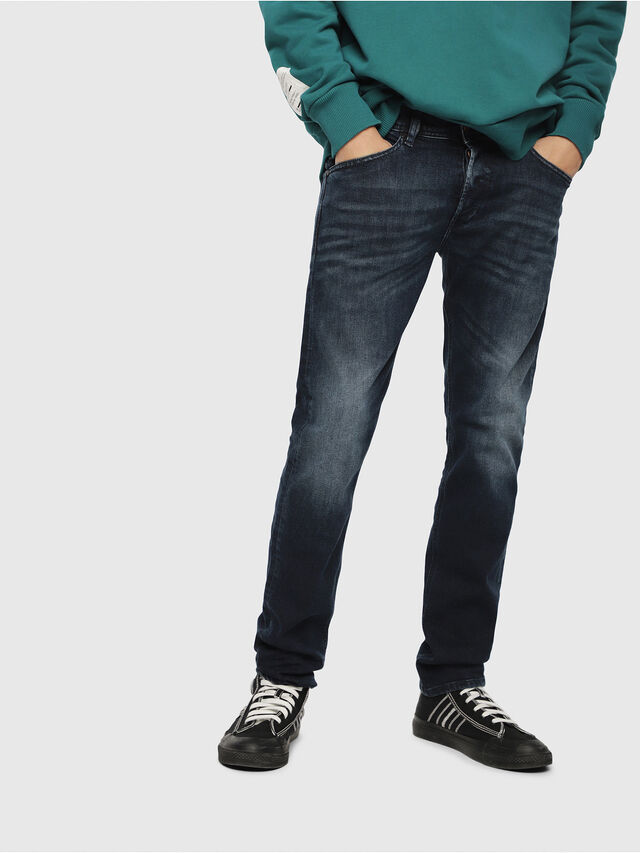 Diesel - Belther 087AS, Dark Blue - Jeans - Image 1