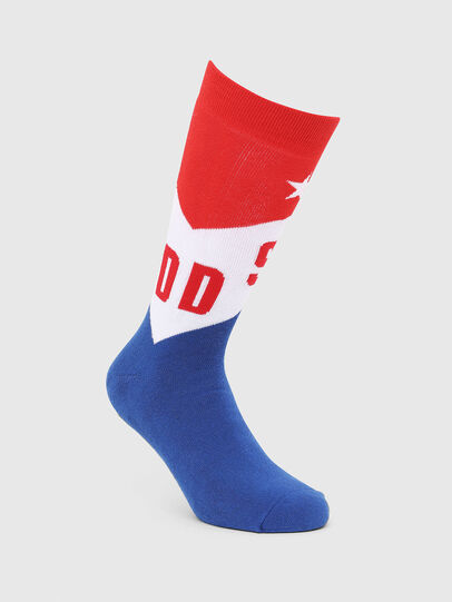 Diesel - SKM-RAY, Blue/Red - Socks - Image 1