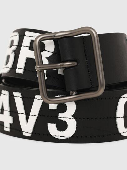 Diesel - B-R4V3, Black/White - Belts - Image 2