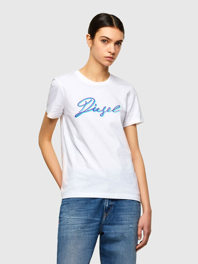 Diesel - T-SILY-K10, White - T-Shirts - Image 1