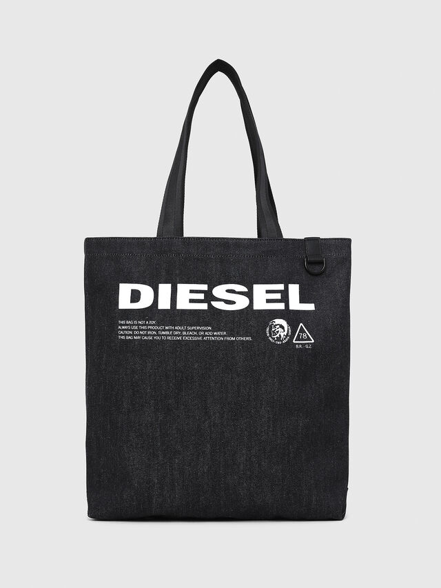 Diesel - F-THISBAG SHOPPER NS, Dark Blue - Shopping and Shoulder Bags - Image 1