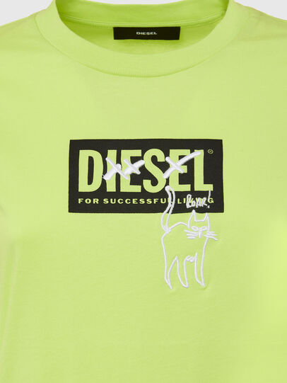 Diesel - T-SILY-E52, Green Fluo - T-Shirts - Image 3