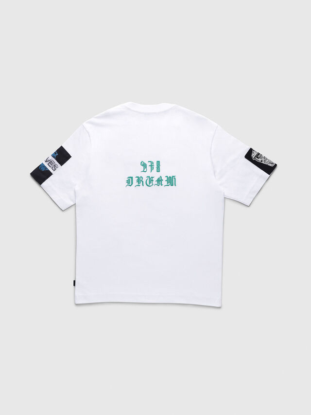 Diesel - TJUSTWG OVER, White - T-shirts and Tops - Image 2