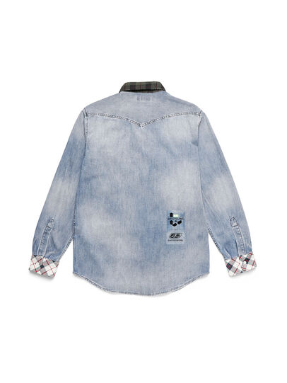 Diesel - D-DEEPCHECK-A, Light Blue - Denim Shirts - Image 2