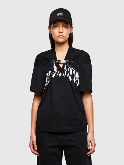 Diesel - T-ALHOOK, Black - T-Shirts - Image 1