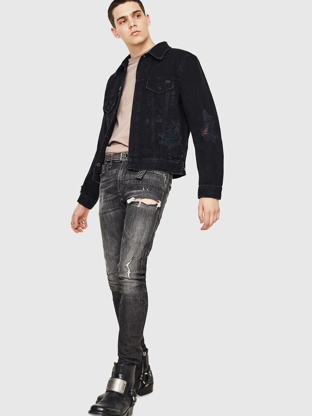 Diesel - D-BRAY, Black - Denim Jackets - Image 5
