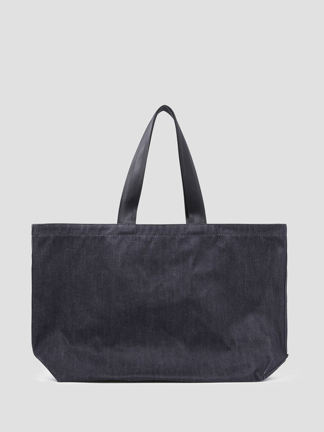 Diesel - D-THISBAG SHOPPER L, Blue Jeans - Shopping and Shoulder Bags - Image 2