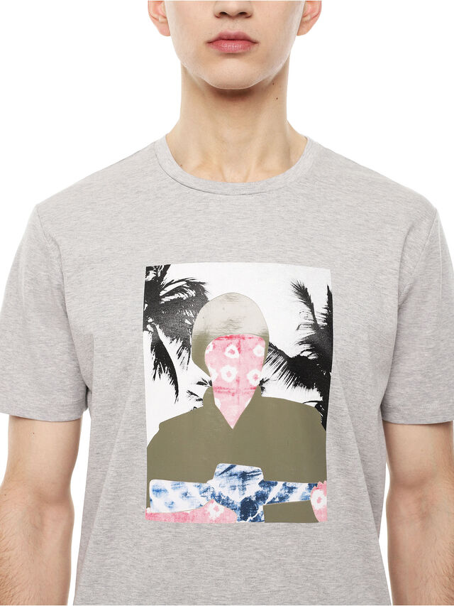 Diesel - TY-SOLDIER, Grey - T-Shirts - Image 3