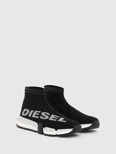 Diesel - H-PADOLA MID SOCK W, Black - Sneakers - Image 2