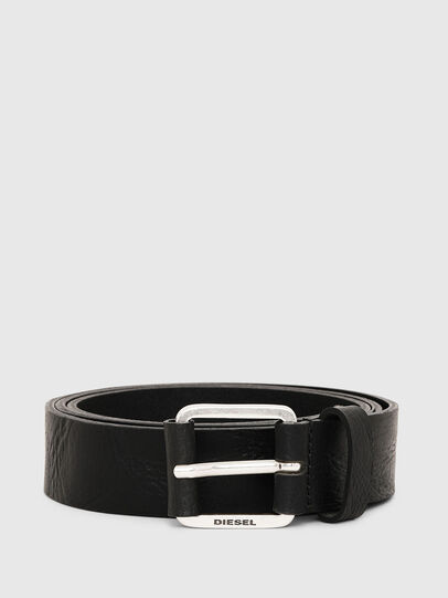Diesel - B-LOG, Black Leather - Belts - Image 1