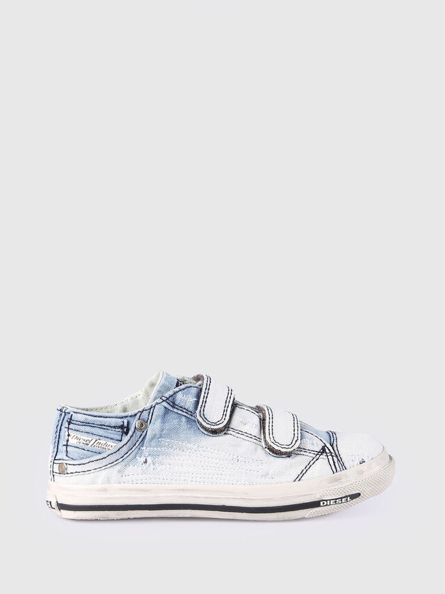 KIDS SN LOW STRAP 11 DENI, Light Blue - Footwear - Image 1