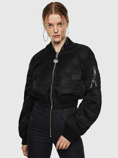Diesel - G-MANUA, Black - Jackets - Image 1