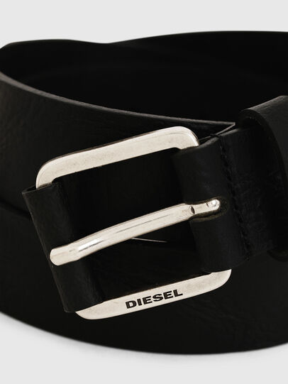 Diesel - B-LOG, Black Leather - Belts - Image 2