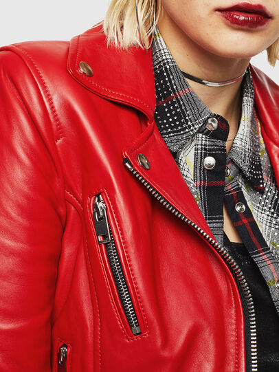 Diesel - L-CARAMA, Red - Leather jackets - Image 3