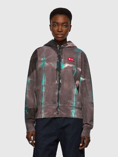 Diesel - F-LYM-HOOD, Dark Violet - Sweaters - Image 1