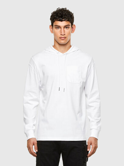 Diesel - T-FONTAL-LS-HOOD,  - T-Shirts - Image 1