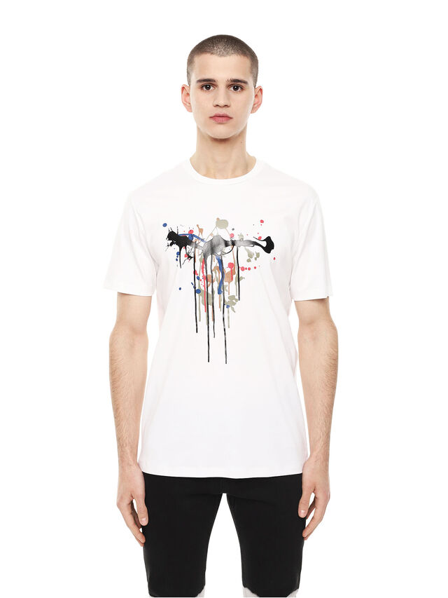 Diesel - TY-DRIPPING, White - T-Shirts - Image 1