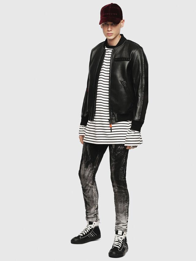 Diesel - L-YUTAKIS, Black - Leather jackets - Image 4