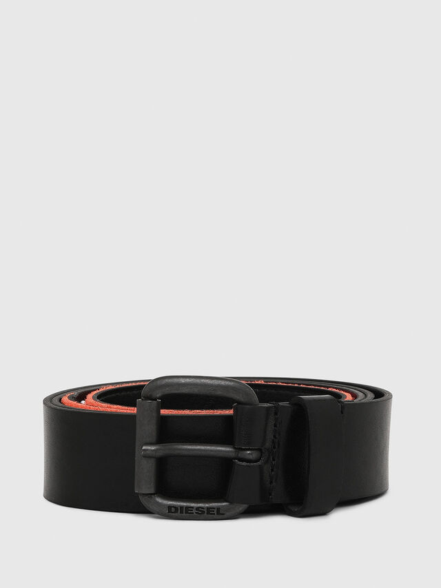 Diesel - B-PATCH, Black/Orange - Belts - Image 1