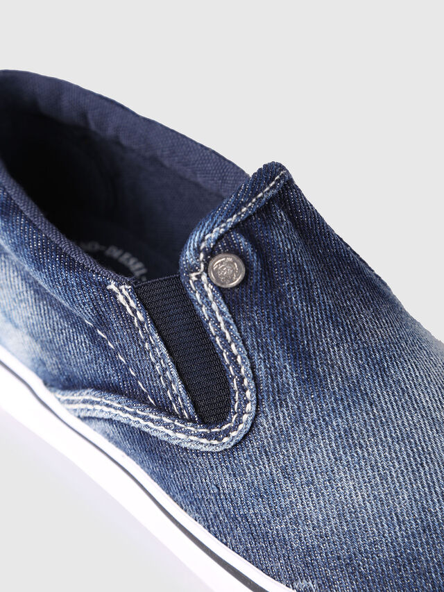 Diesel - SLIP ON 21 DENIM CH, Blue Jeans - Footwear - Image 4