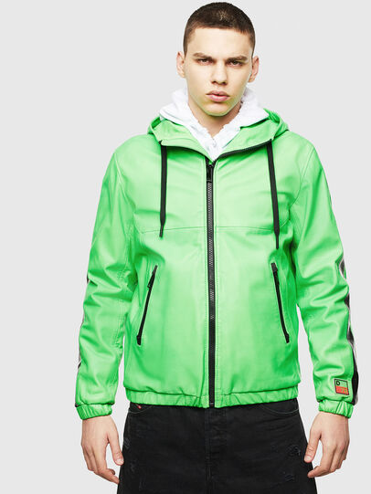 Diesel - L-CARRSY, Green Fluo - Leather jackets - Image 1