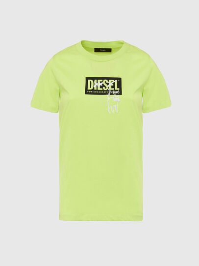 Diesel - T-SILY-E52, Green Fluo - T-Shirts - Image 1