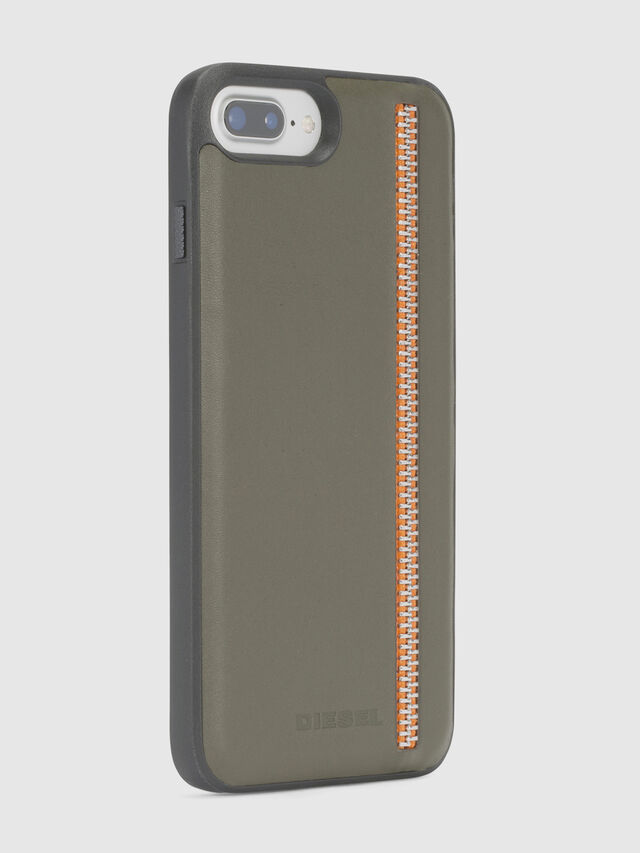 Diesel ZIP OLIVE LEATHER IPHONE 8/7/6s/6 CASE, Olive Green - Cases - Image 5