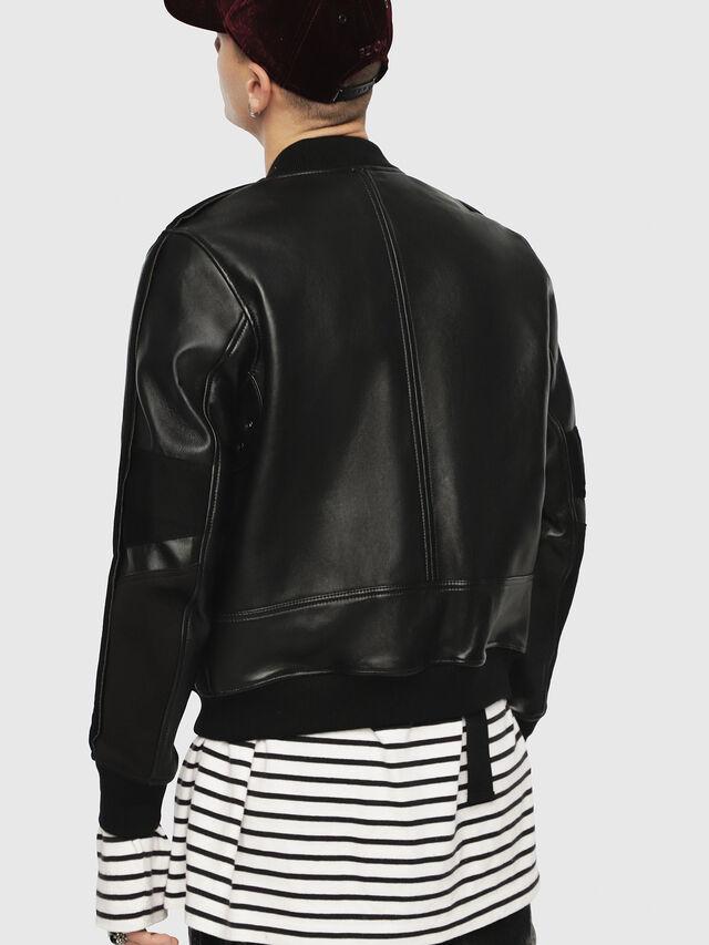 Diesel - L-YUTAKIS, Black - Leather jackets - Image 2