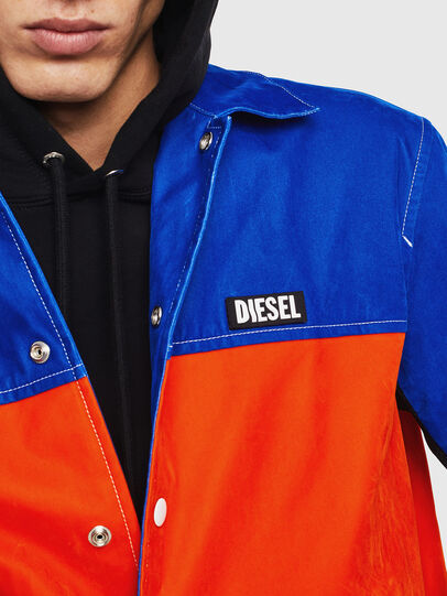 Diesel - J-BELL, Blue/Red - Jackets - Image 3