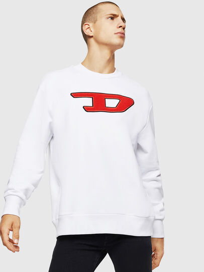 Diesel - S-CREW-DIVISION-D, White - Sweaters - Image 1